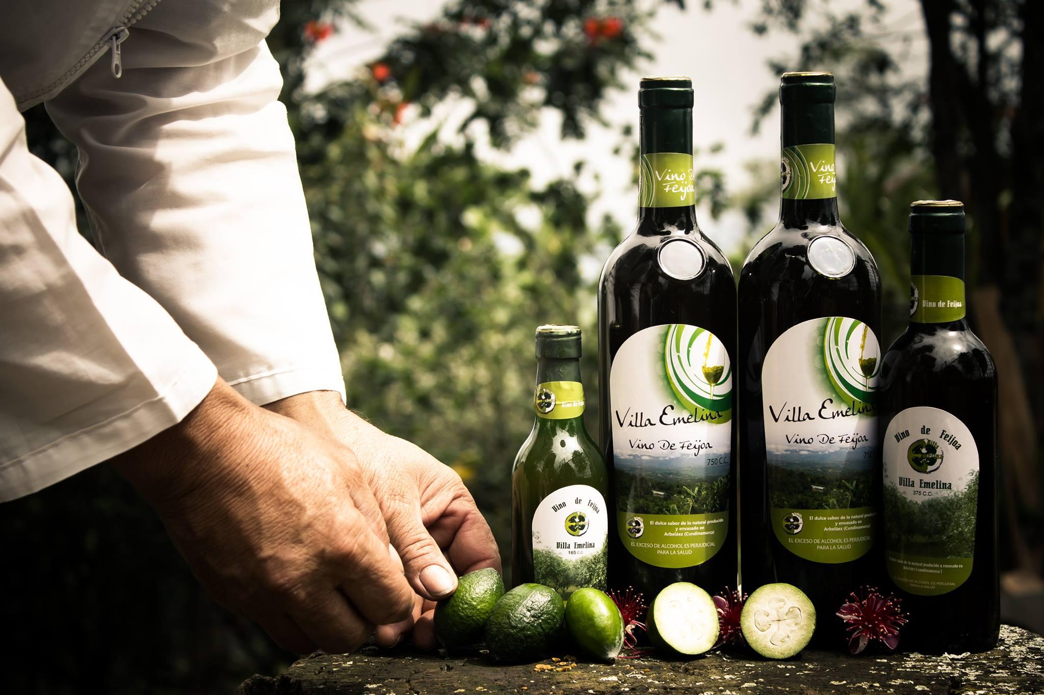 botellas vino de feijoa