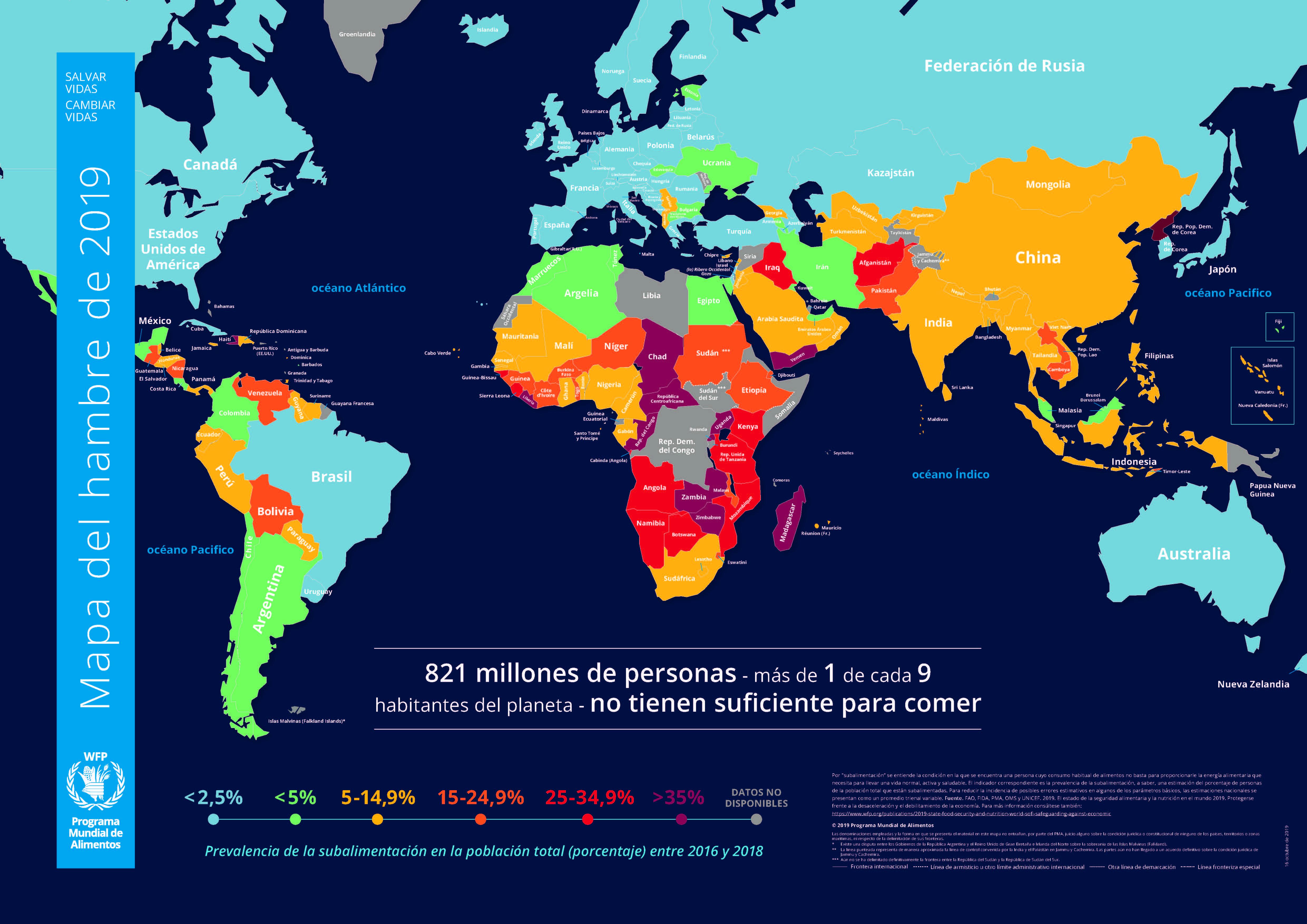 Mapa Del Hambre 2017.El Mapa Del Hambre En El Mundo